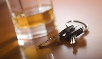 Image of an alcoholic drink and car keys